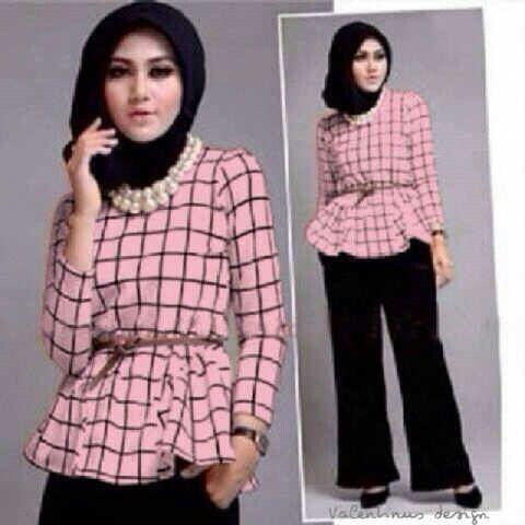 Maura hijab 4in1 matt spandek atasan+celana+pashmina+belt fit L @56