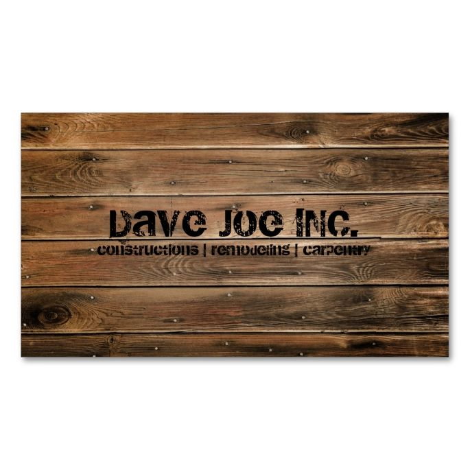 2142 best wood business card templates images on pinterest grunge barn wood construction carpentry business card reheart Gallery