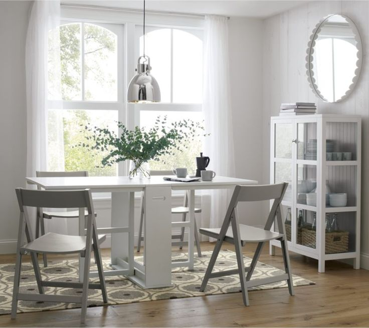 25 best ideas about folding dining chairs on pinterest for Span white gateleg table
