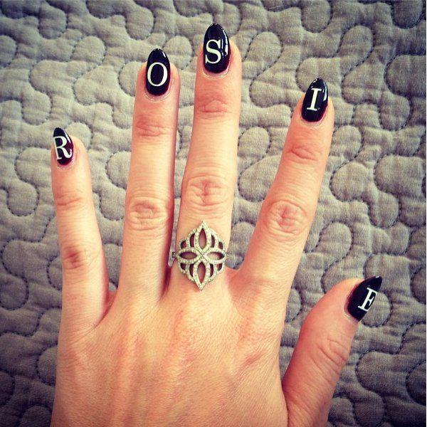 58 best Monogram Manicure images on Pinterest | Monogram, Monograms ...