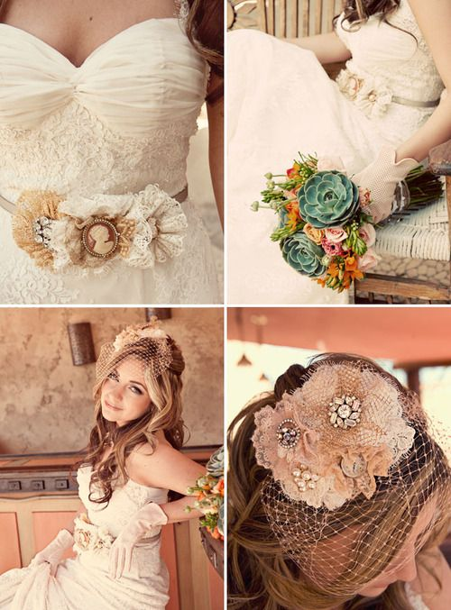 beautiful vintage wedding dress and theme