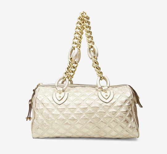 Gold Marc Jacobs Collection Quilted Bag  $295 #marcjacobs #gold #quilted #classic #modern