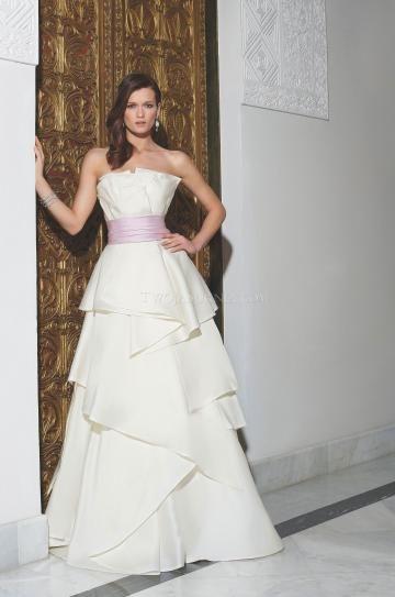 Bez ramínek Šerpy / Stuhy Zip Svatební šaty 2014