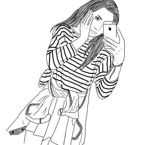 dessins de fille tumblr | ... , dessins, fille, filles, grunge, iphone, téléphones, Tumblr, blanc