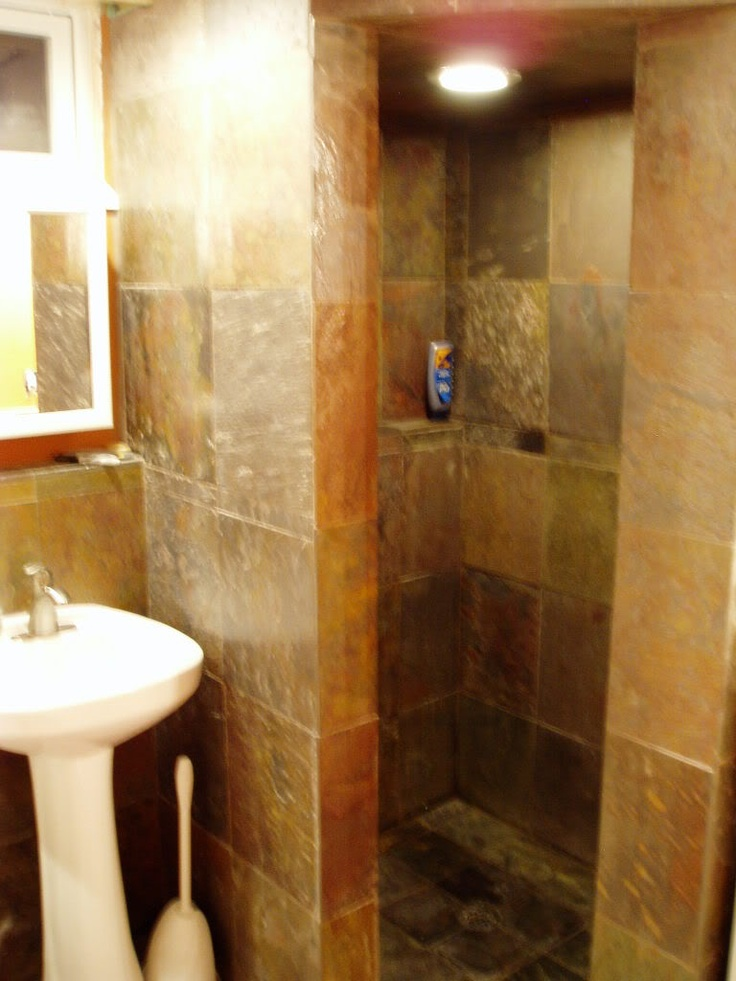 Terrible pic  but good concept walk in shower83 best WALK IN Showers images on Pinterest   Bathroom ideas  . Pics Of Walk In Showers. Home Design Ideas