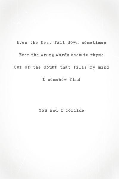 Sometimes it's NOT the lyrics you love about a song, it's the memory behind it. Example: this song was playing in the background the first time you met someone...get the point?