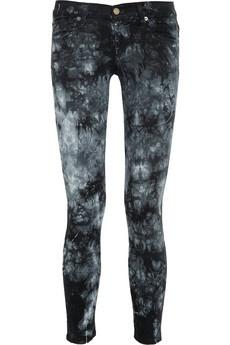 TEXTILE Elizabeth and James  Tie dye-print low-rise skinny jeans