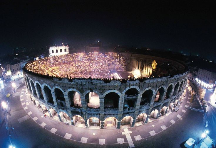 Built in the 1st century, the Verona Arena is still hosting live performances two millenia later