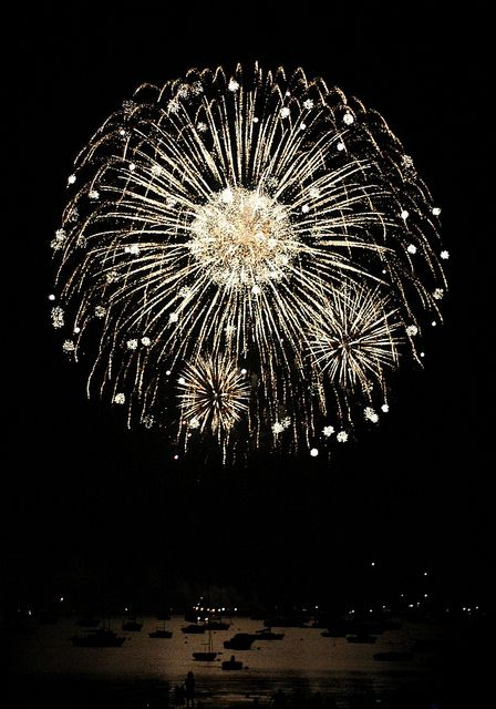 true story: i used to watch fireworks every night after supper.  i wish that were my true story....: