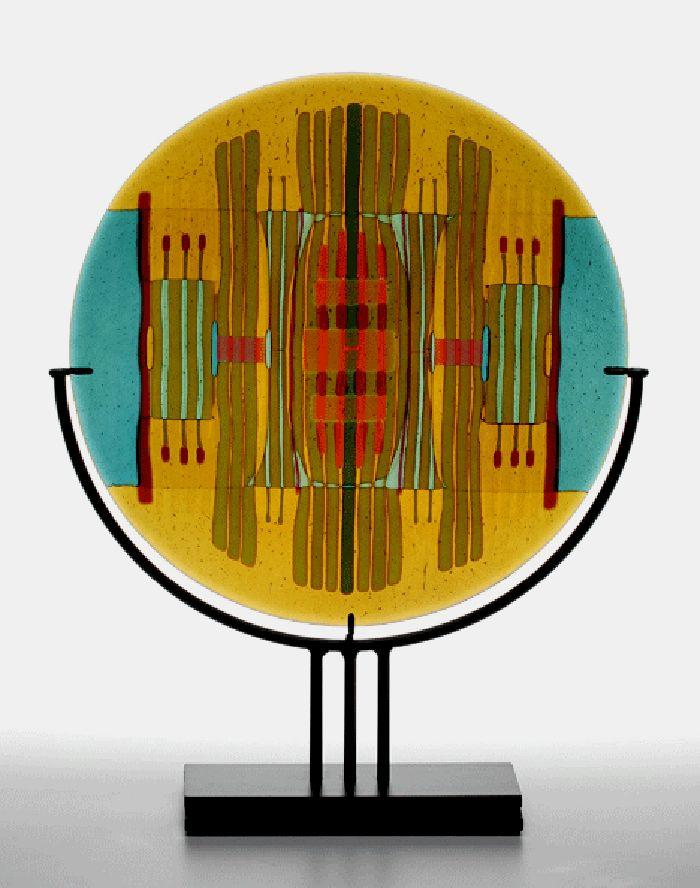 Modern Glass Art Wall Panels Festooning - All About Wallart ...