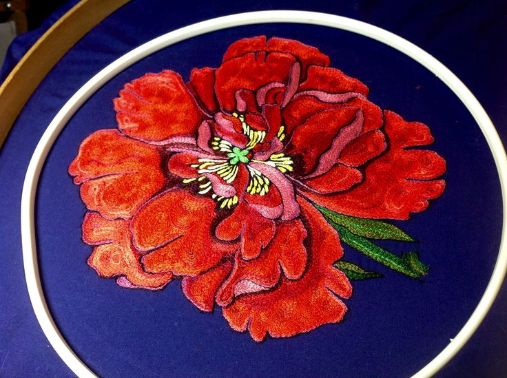 Embroidery, tambour embroidery