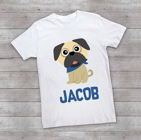 Pug Shirt for Kids Funny Birthday Gift for Kids Pugs and Kisses Toddler Tee