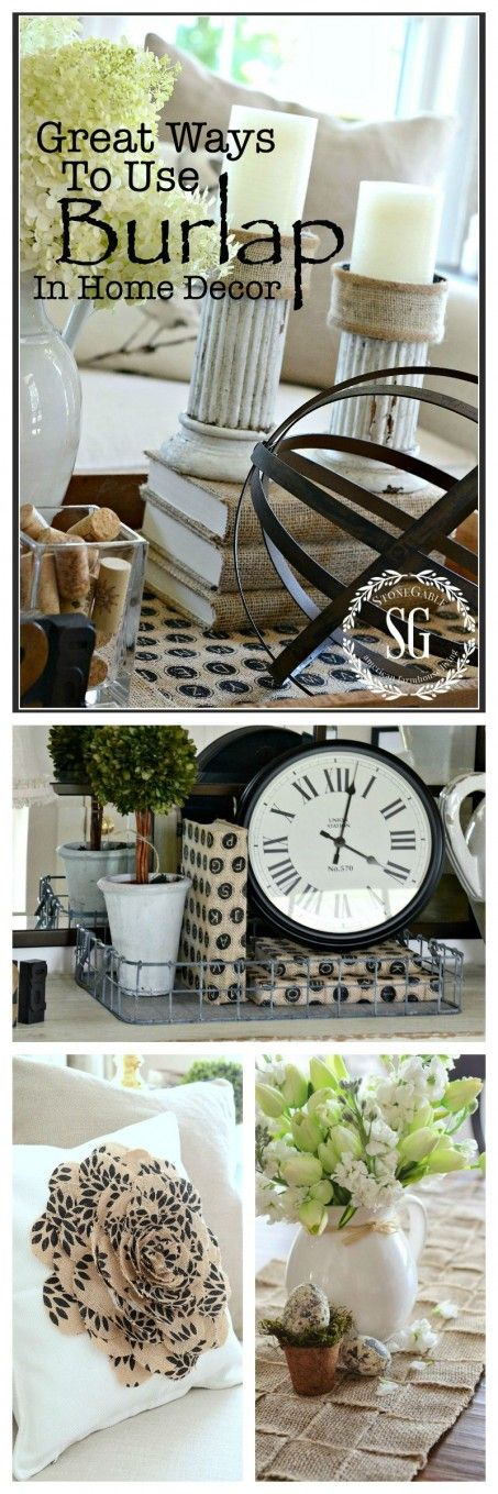 USING BURLAP IN HOME DECOR Burlap is a classic and here to stay. Here are some helpful tips for decorating with it.