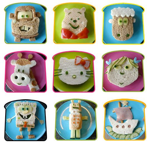 Kid's Lunch-See all these cute and clever ideas for kids lunches. Winnie