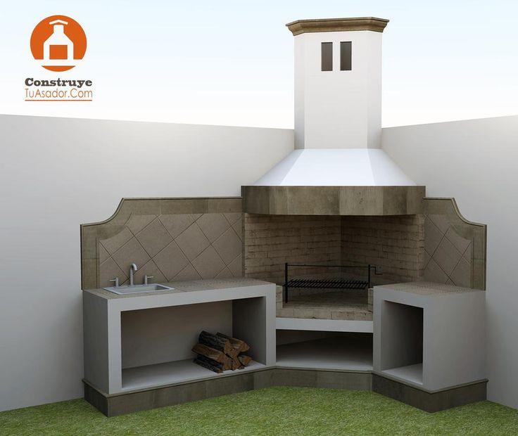 Las 25 mejores ideas sobre asadores para jardin en for Ladrillos para piletas