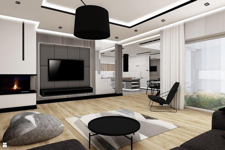Szara podłoga, szare drzwi, białe ściany Mieszkanie Pinterest