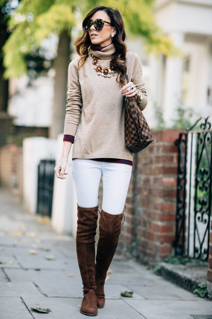 fall layers and over the knee boots