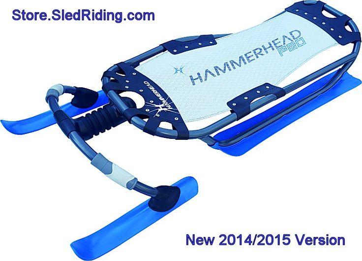 New Cool Blue Hammerhead Sled via store.sledriding.com   #Sleds #Sledding #ExperienceWinter   #Hammerhead  #HammerheadSled