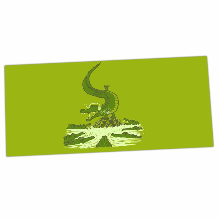 "BarmalisiRTB ""Breakdance Crocodile"" Green Beige Desk Mat"