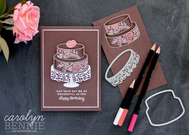 Stampin' Up! Cake Soiree bundle is delicious! See my full video tutorial at carolynbennie.com Australian Stampin' Up! Demonstrator