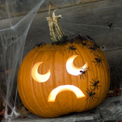 Creeped out jack-o-lantern: Holiday, Pumpkin Idea, Halloween Pumpkin, Halloween Crafts, Pumpkins, Creepers Jack O Lantern, Jackolantern