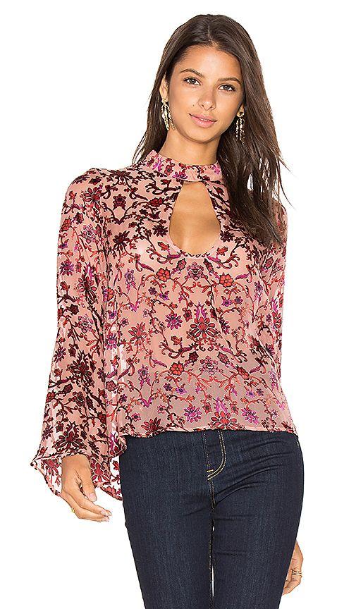 For Love & Lemons Saffron Blouse in Sunset Floral via Revolve Clothing #affiliate