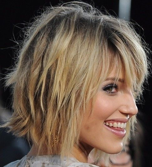 Get Dianna Agrons choppy bob hairtyle! Learn how to style a choppy bob, and how to curl it!