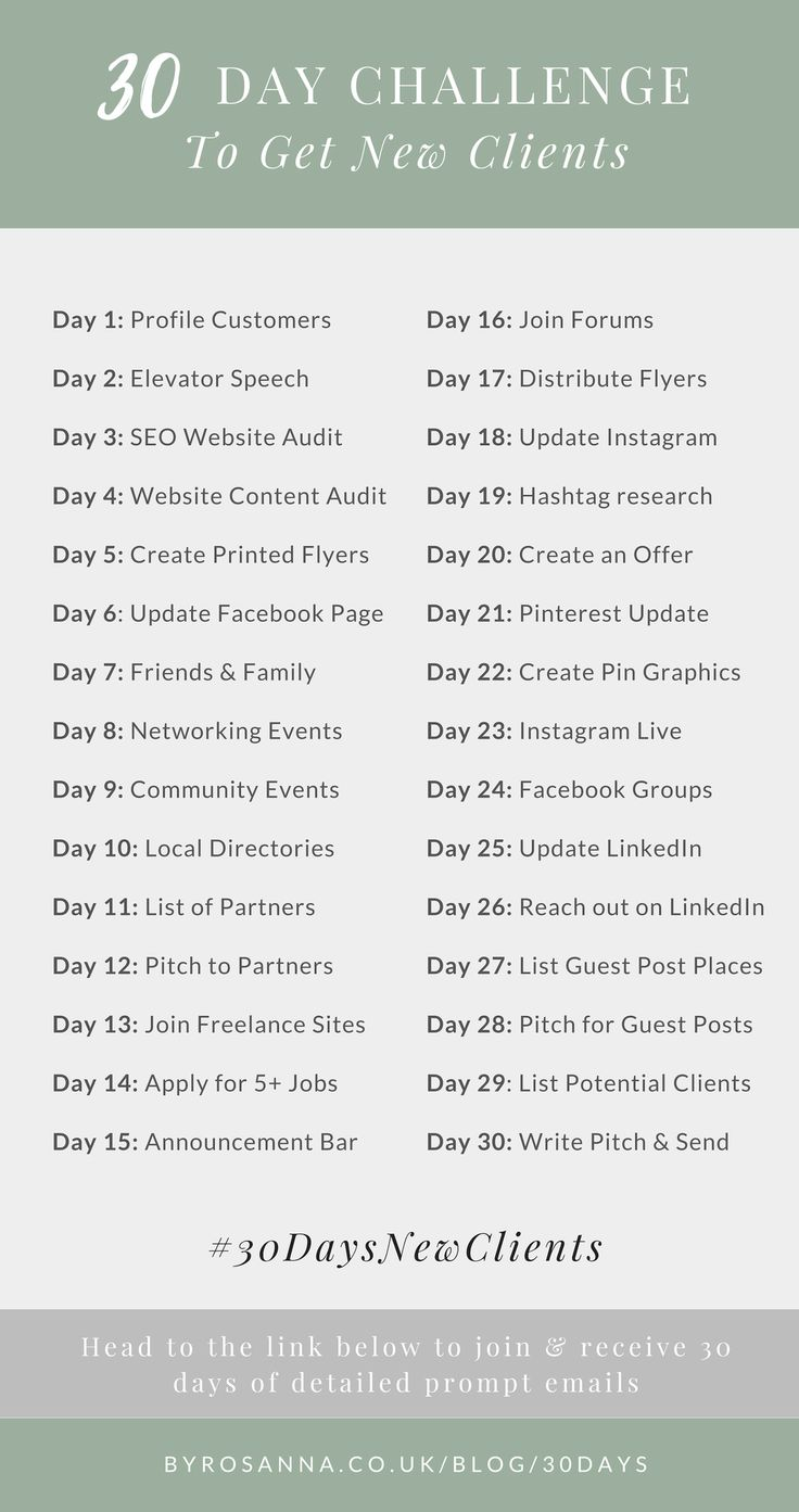30 Day Challenge to Get New Clients! (For Freelancers & Small Biz Owners)