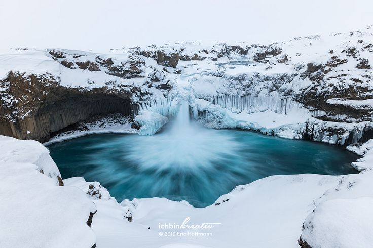 https://flic.kr/p/E3ca4P | Aldeyjarfoss in winter I | This wonderful waterfall is located in the northern part of the country and can be reached by the road 842, which also leads to the waterfall Goðafoss at first. However, the road becomes the mountain road F26 later on for which a 4x4 is required. Also note that the last part of the road is only reliable passable from about June to September, depending on the road and weather conditions. The most interesting feature of the waterfall…