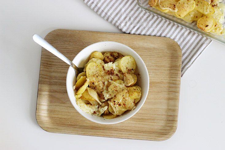 Pommes de terre gratinées façon raclette (végétarien)