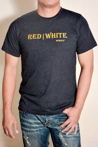 Font Type - Gold T-shirt – Red|White1945