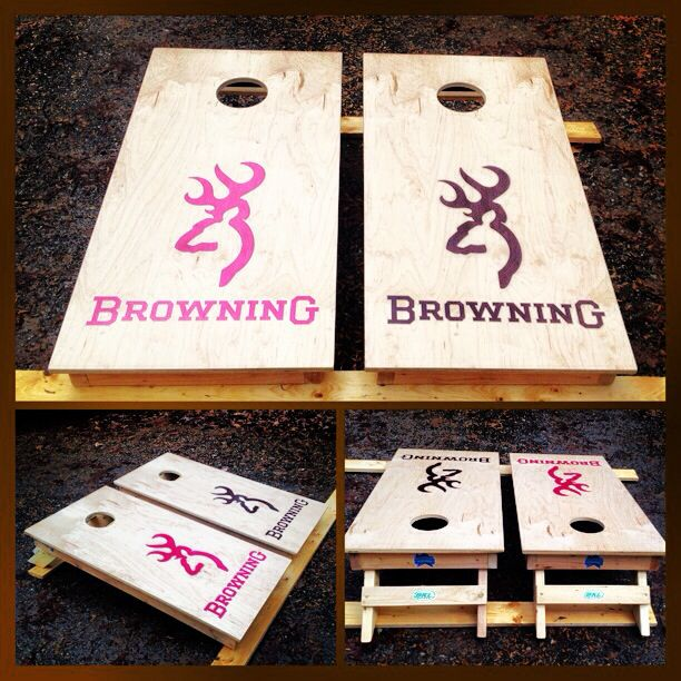 A Cool Browning Cornhole Set Www Bklboards Com Cornhole