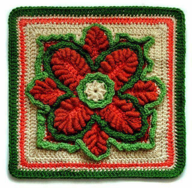 Mejores 121 im genes de aplicaciones de crochet en - Aplicaciones de crochet para colchas ...