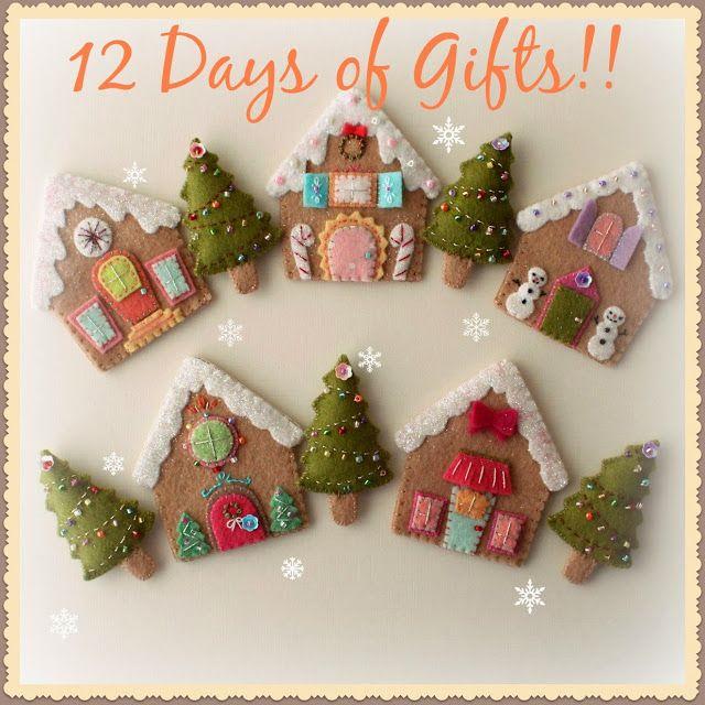 casitas en fieltro navidad