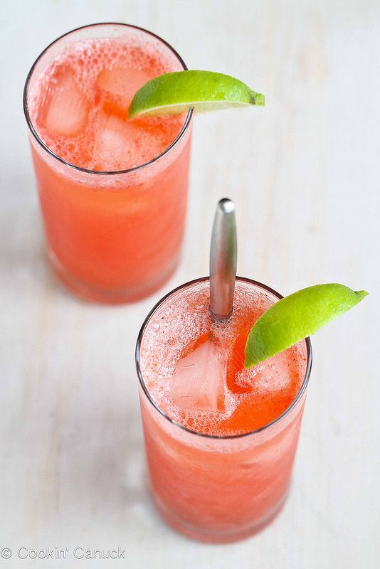 Fresh Strawberry and Lime Tom Collins