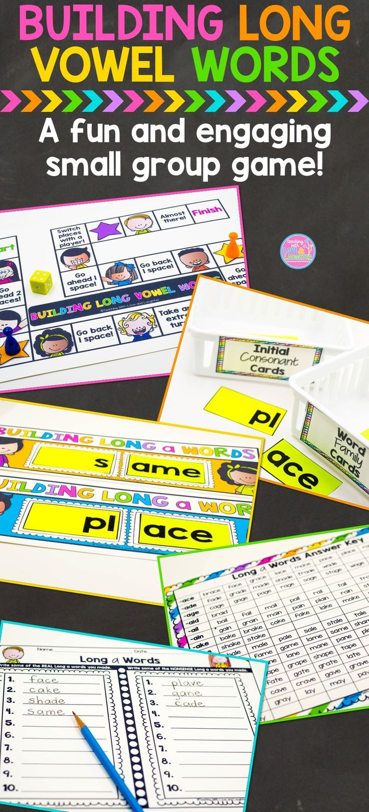 Building Long Vowel Words Small Group GameHelp students