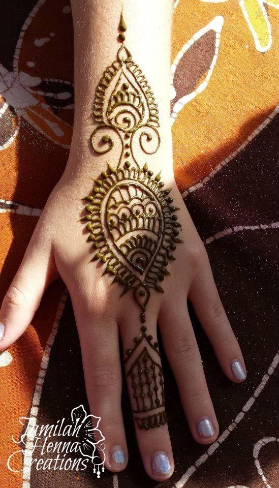 wwww.jamilahhennacreations.com. Tear drop shape henna