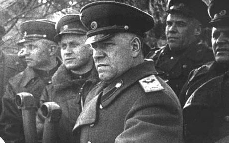 Part II. Georgi Zhukov (1896-1974) In 1943, Zhukov oversaw the defense of the Kursk salient, the last offensive of the Wehrmacht repulsed by the Soviets. He coordinated the massive Soviet counteroffensive in Ukraine. In 1944, Zhukov planned Operation Bagration, and led the First ByeloRussian Front in the advance on Berlin, In 1945-46, he commanded the Soviet occupation forces in Germany.