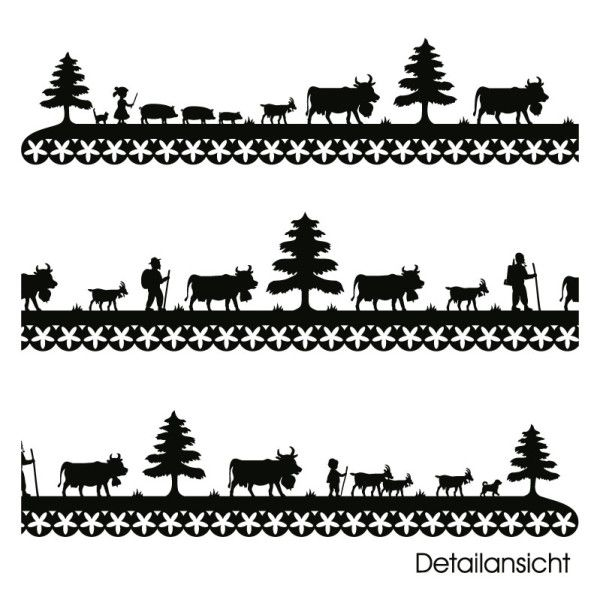 Wandtattoo Alpaufzug lang - Bild 2