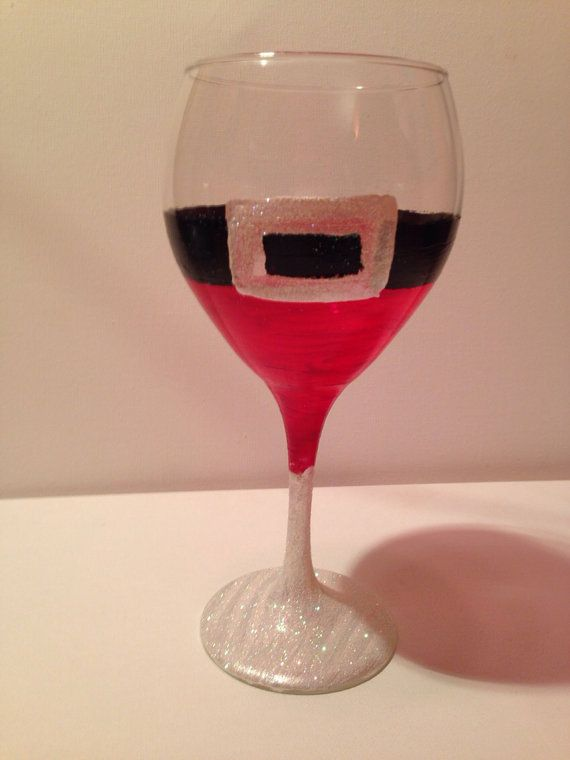 17 best images about painted wine glasses on pinterest for Santa glasses for crafts