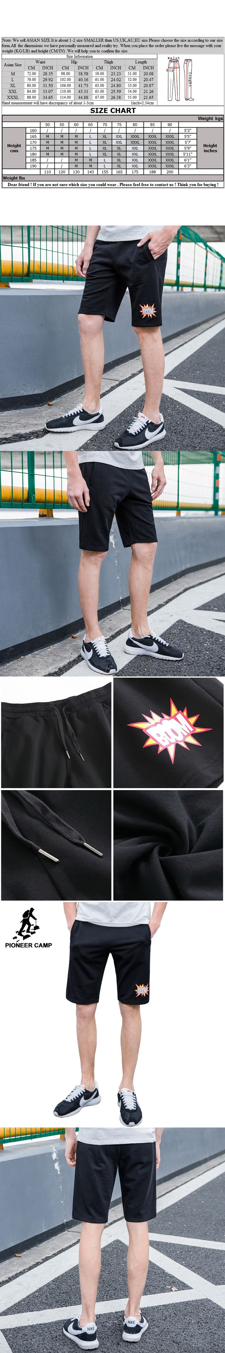 Pioneer Camp new arrival brand men shorts funny printed black shorts male top quality summer bermuda boardshorts ADK702251
