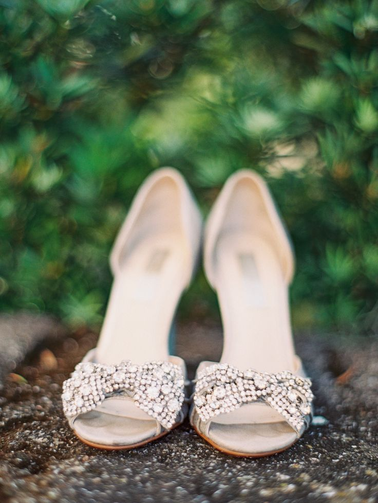 Bedazzled Shoes | On SMP: http://www.StyleMePretty.com/southeast-weddings/2014/02/06/romantic-wedding-in-historic-st-augustine/  Jennifer Blair Photography