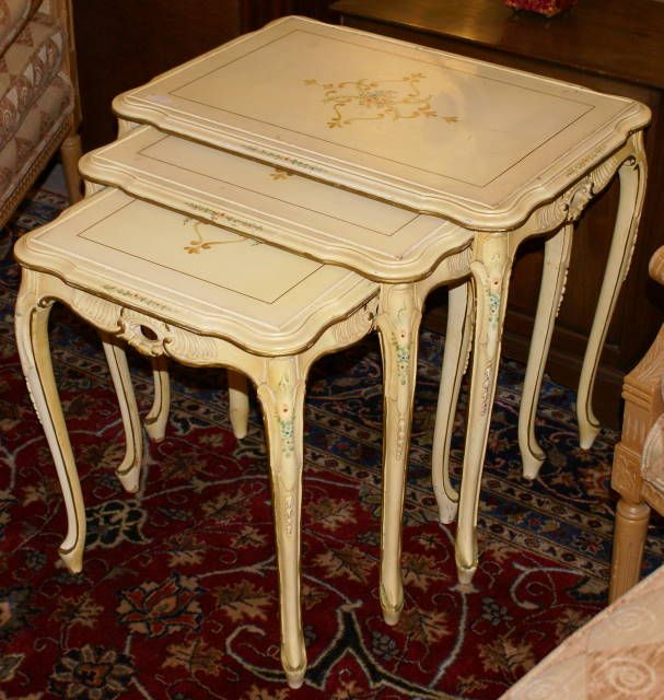 Hand painted furniture french nesting
