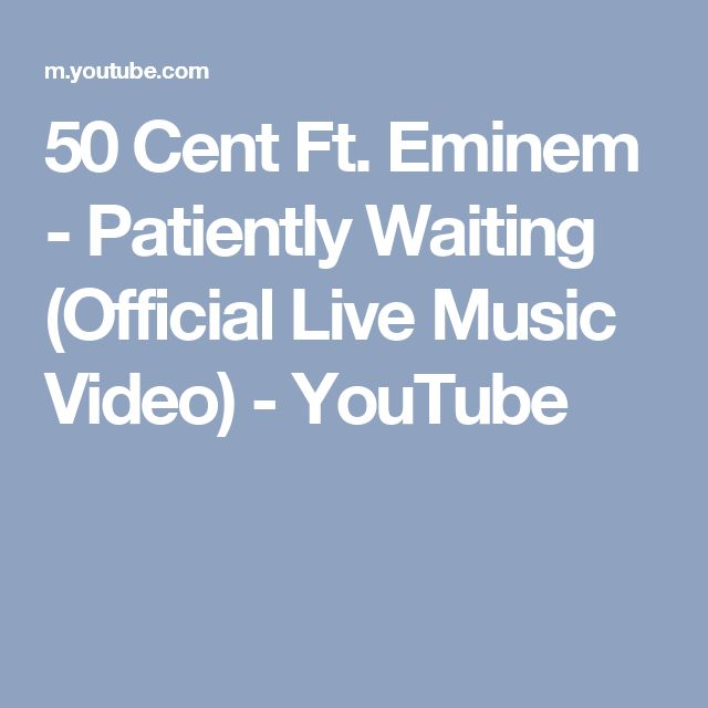 50 Cent Ft. Eminem - Patiently Waiting (Official Live Music Video) - YouTube