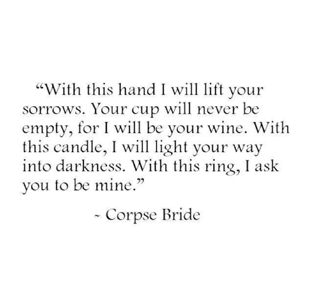 Corpse bride quote