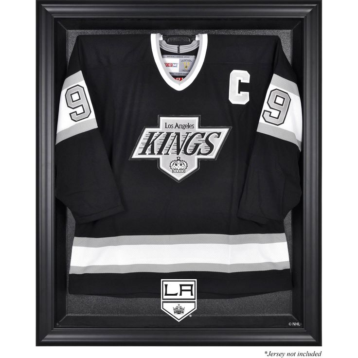 los angeles kings fanatics authentic black framed jersey display case