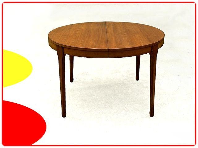 Table Ronde Scandinave Teck Par Meubles Tv Paris 1960 Vie Anterieure 79 Meubles Vintage Et Scandinaves Mobilier De Salon Table Ronde Scandinave Meuble Vintage