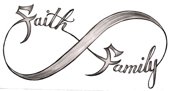 Faith and Family Infinity Symbol Tattoo by ~Metacharis on deviantART