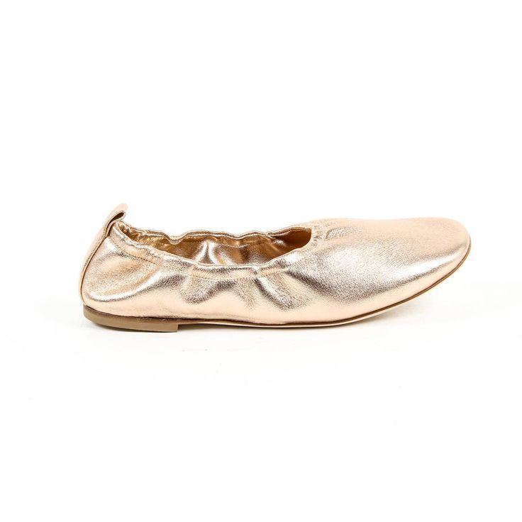 Versace 19.69 Abbigliamento Sportivo Srl Milano Italia Womens Ballerina 302999 NAPPA METAL SALMONE