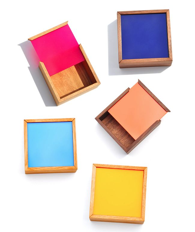Square Colour Chip Boxes at Leif